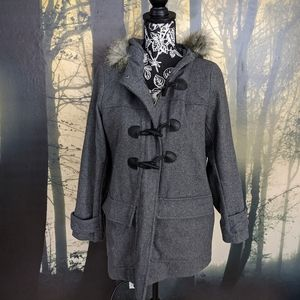 Gray Old Navy Trench